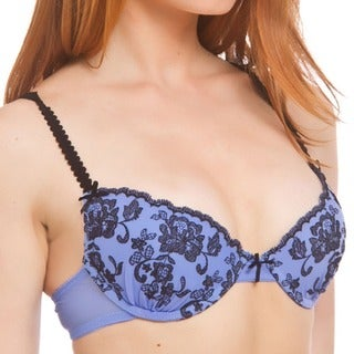 Prestige Biatta Periwinkle Mesh Embroidered Push-up Bra