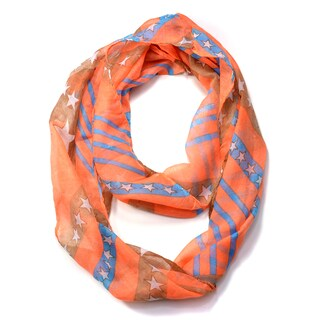 Dasein Star and Stripes Pattern Infinity Scarf (3 options available)