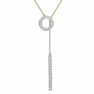 10k Gold 1/3ct TDW 'Together Forever' Diamond Lariat Necklace