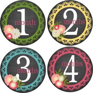 Flowers/ Lace Monthly Baby Bodysuit Stickers (Set of 13)|https://ak1.ostkcdn.com/images/products/9921083/P17078409.jpg?impolicy=medium