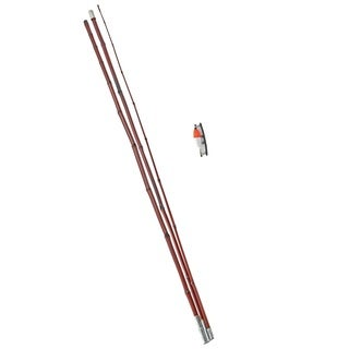 Rigged Bamboo12-foot 3-piece Fishing Pole