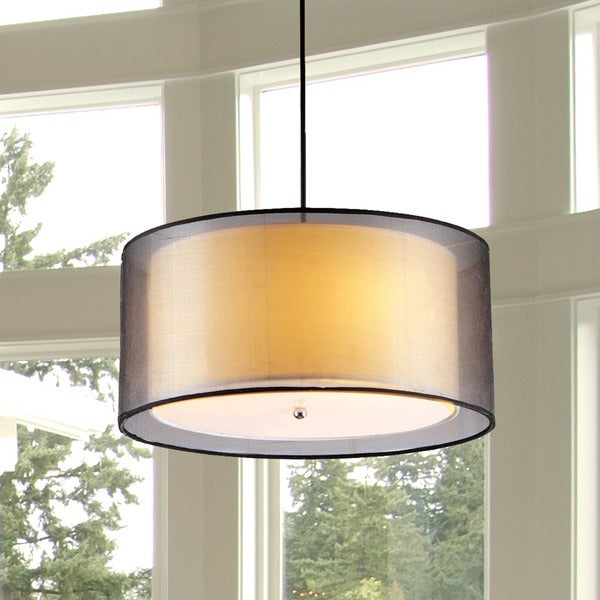 Jonah 3-light Double Drum Shade Pendant