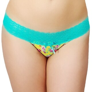 Prestige Biatta Floral Stretch-lace Thong (4 options available)