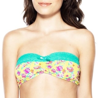 Prestige Biatta Floral Cotton Bandeau Yellow
