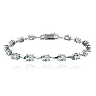 Glitzy Rocks Sterling Silver Aquamarine Bracelet|https://ak1.ostkcdn.com/images/products/9921151/P17078476.jpg?impolicy=medium