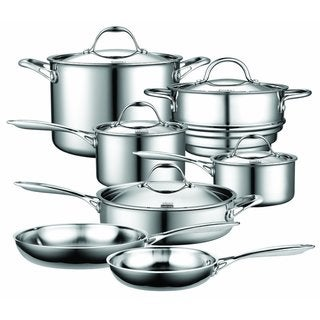 Link to Cooks Standard 12-Piece Multi-Ply Clad Stainless Steel Cookware Set Similar Items in Cookware