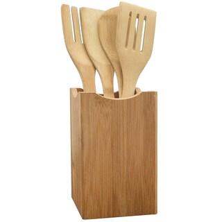 KitchenWorthy 5-piece Bamboo Utensil Set