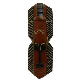 Handmade Sese Wood Ahomka Good Spirit Mask (Ghana)
