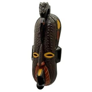 Handmade Sese Wood Free Spirit Bird Mask (Ghana)