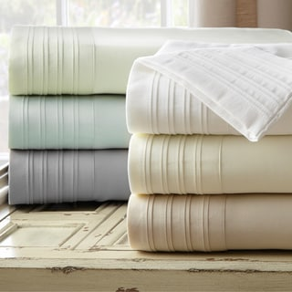 Exceptionnel Amraupur Overseas 1000 Thread Count Pleated Hem Sheet Set