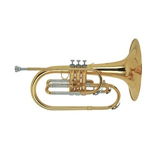 Blessing BM-100 Lacquered Brass Marching Mellophone