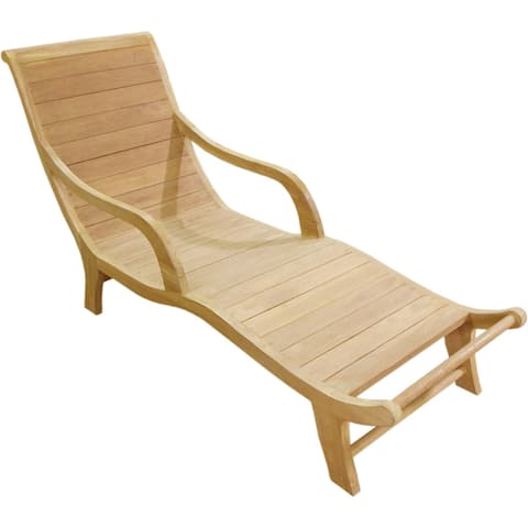 D-Art Collection Teak Curved Resting Lounger