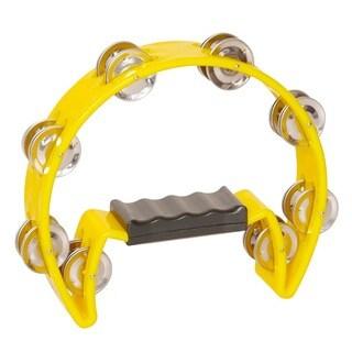 Crescent 16-jingle Yellow Tambourine (Option: Yellow)
