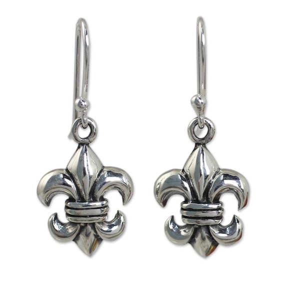 74f22c0df Shop Handmade Sterling Silver 'Fleur-de-lis' Earrings (Thailand ...