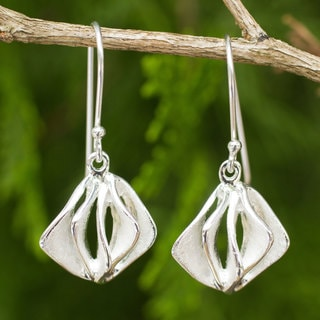 Handcrafted Sterling Silver 'Forest Breeze' Earrings (Thailand)
