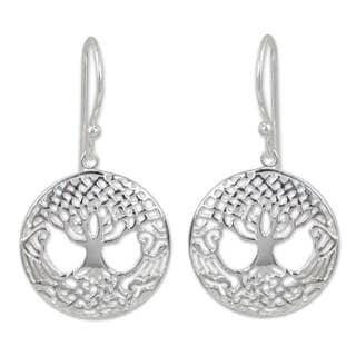 Handmade Sterling Silver 'Celtic Tree' Earrings (Thailand)