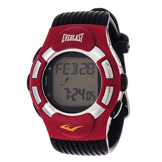 Everlast HR1 Finger Touch Heart Rate Monitor Red Bezel Sport Digital Watch