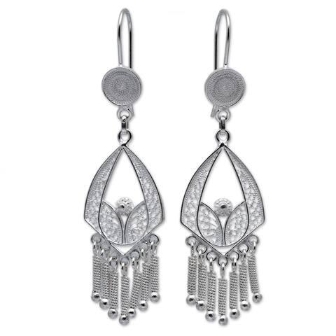 Handmade Sterling Silver 'Inca Royal' Earrings (Peru)