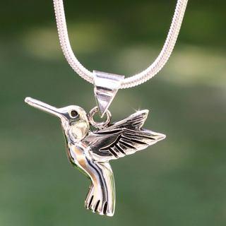 Handmade Sterling Silver 'Hummingbird Secrets' Necklace (Mexico)