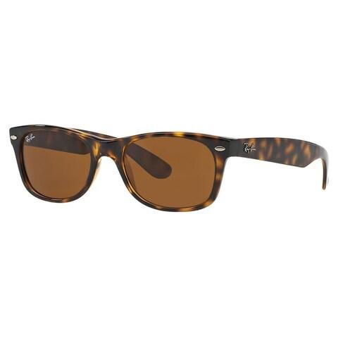 Ray-Ban New Wayfarer RB2132 Unisex Tortoise Frame Brown Lens Sunglasses