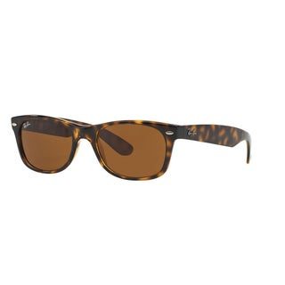 Ray-Ban New Wayfarer RB2132 Unisex Tortoise Frame Brown Lens Sunglasses