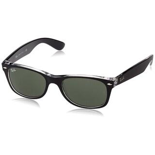 Ray Ban Sunglasses New Wayfarer RB2132 (Black Transparent/Green Lens) - 55mm|https://ak1.ostkcdn.com/images/products/9922384/P17079553.jpg?_ostk_perf_=percv&impolicy=medium