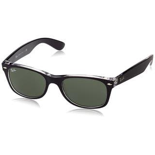 Ray Ban Sunglasses New Wayfarer RB2132 (Black Transparent/Green Lens) - 55mm|https://ak1.ostkcdn.com/images/products/9922384/P17079553.jpg?impolicy=medium