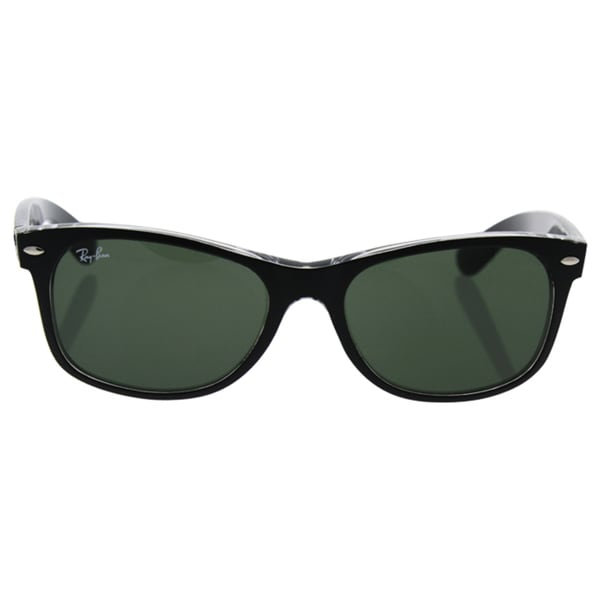 Ray-Ban New Wayfarer Black Transparent/Green Lens 55mm Sunglasses