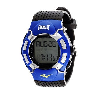 Everlast HR1 Finger Touch Heart Rate Monitor Blue Bezel Sport Digital Watch
