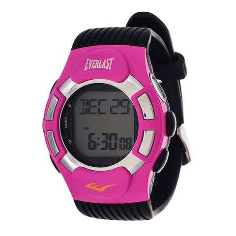 Everlast HR1 Finger Touch Heart Rate Monitor Pink Bezel Sport Digital Watch