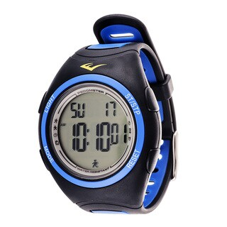 Everlast PD1 Pedometer Blue Silicone Strap Sport Round Watch