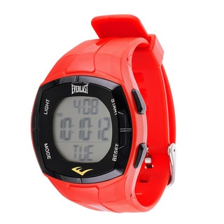 Everlast Men's HR2 Red Heart Rate Monitor Digital Sport Watch with Chest Strap