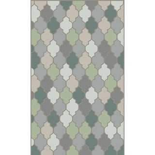 Hand-Knotted Brittney Moroccan Trellis Indoor Rug (5' x 8')