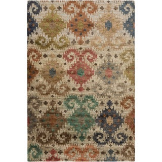 Hand-Knotted Ruth Ikat Jute Rug (5' x 8')