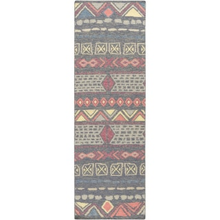 Hand-Woven Stephen Nature Wool Rug (2'6 x 8')