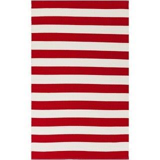 Hand-Woven Stacy Stripe Cotton Rug (5' x 7'6)