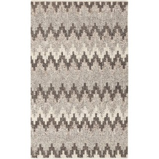 "Hand-Woven Sammy Chevron Wool Area Rug - 5' x 7'6"""