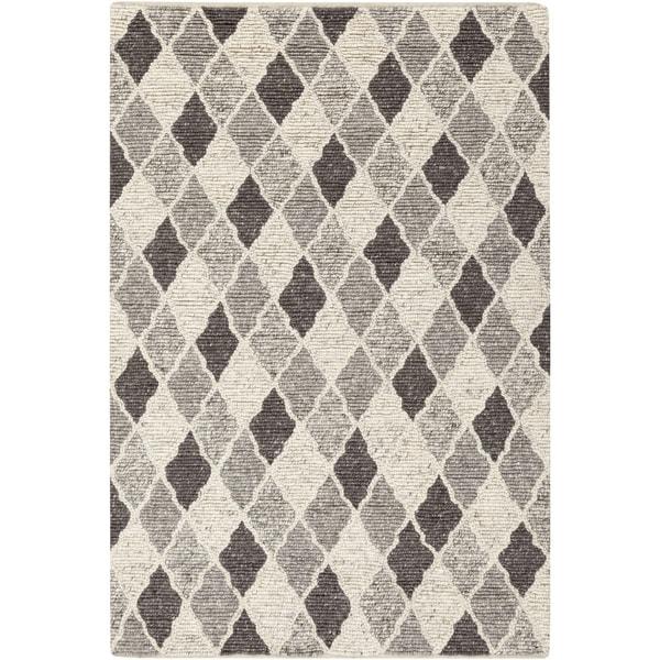 "Copper Grove Rock Rose Hand-woven Moroccan Trellis Wool Area Rug - 5' x 7'6"""