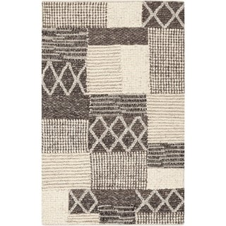 "Hand-Woven Sonya Nature Wool Area Rug - 5' x 7'6"""