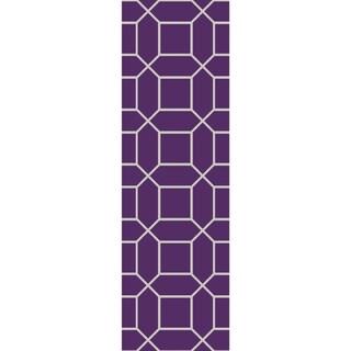 Hand-Woven Rodolfo Geometric Pet Area Rug - 2'6 x 8'