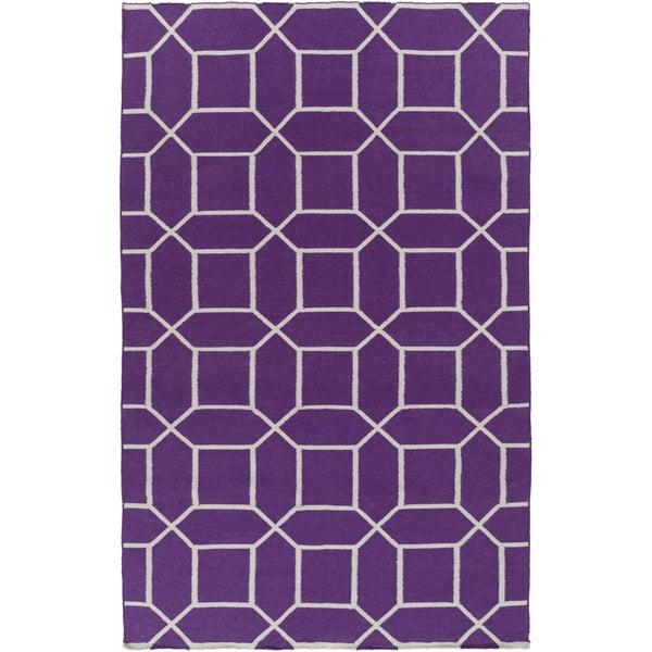 Hand-Woven Rodolfo Geometric Pet Area Rug (5' x 8')
