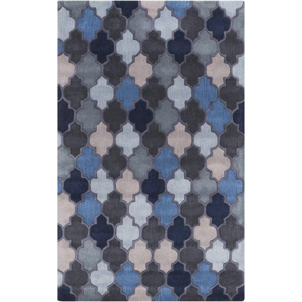 Hand-Tufted Randall Moroccan Trellis Wool Rug (5' x 8')