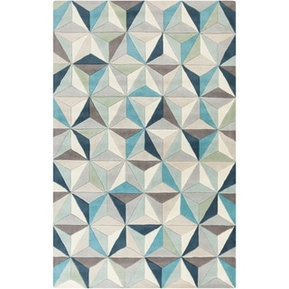 Hand-Tufted Roselyn Geometric Wool Area Rug - 5' x 8'