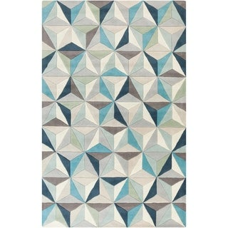 Hand-Tufted Roselyn Geometric Wool Rug (5' x 8')