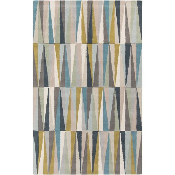 Shop Hand Tufted Rox Anne Geometric Wool Area Rug 5 X 8