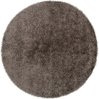 Hand-Woven Jim Solid Polyester Rug (10' Round)