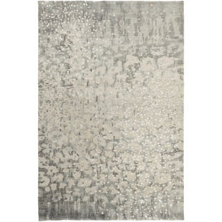 Hand-Knotted Giana Abstract Wool Rug (5' x 8')