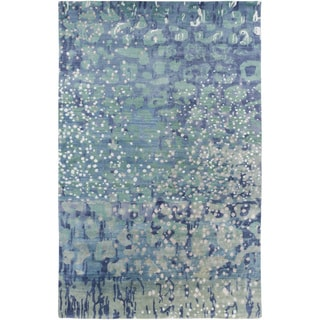 Hand-Knotted Garry Abstract Wool Rug (5' x 8')