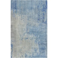 Hand-Knotted Ted Abstract Wool Area Rug