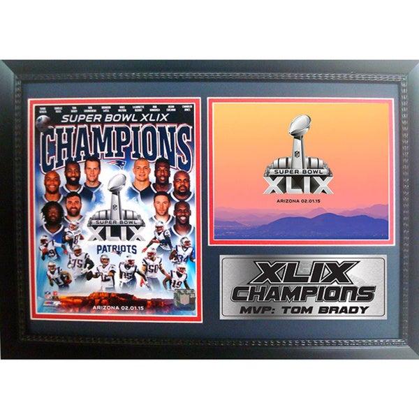 New England Patriots Super Bowl XLIX Champions Commemorative Photograph